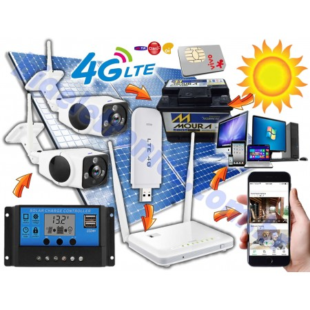 Kit Câmera de Segurança 3G-4G Movida a Energia Solar - Observação 360° -01