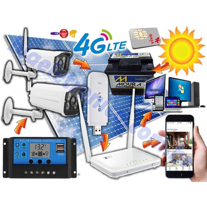 Kit Câmera de Segurança 3G-4G Movida a Energia Solar - 01