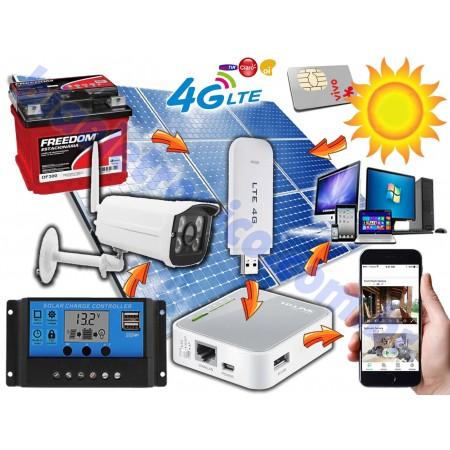 Kit Câmera de Segurança 3G-4G Movida a Energia Solar - 02