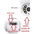 Kit Câmera de Segurança 2X Dome 4G - Chip 4G - Sistema de Observação 360°