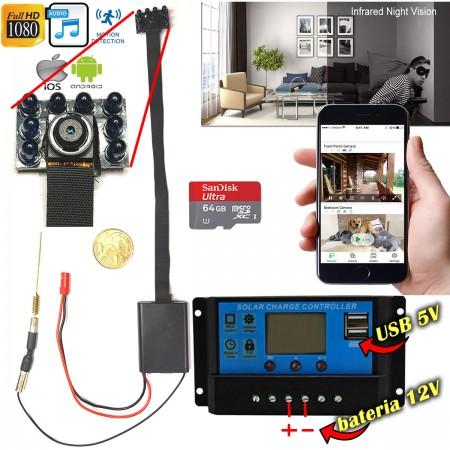 Modulo Câmera WIFI INFRA com Controlador de Carga para Baterias 12V