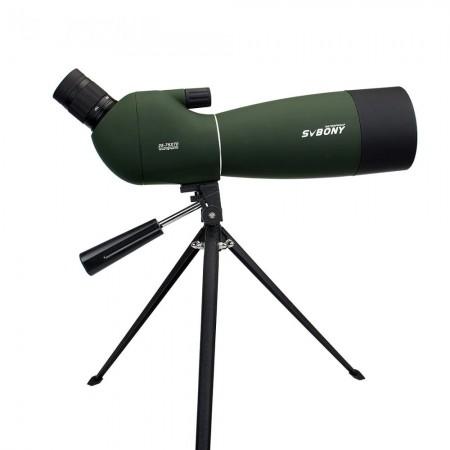 Luneta - Telescopio - SvBONY 25-75x70 com Tripé - Spotting Scope BAK-4