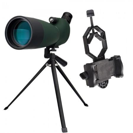 Luneta - Telescopio - SvBONY 25-75x70 com Tripé e Adaptador Celular - Spotting Scope BAK-4 FMC