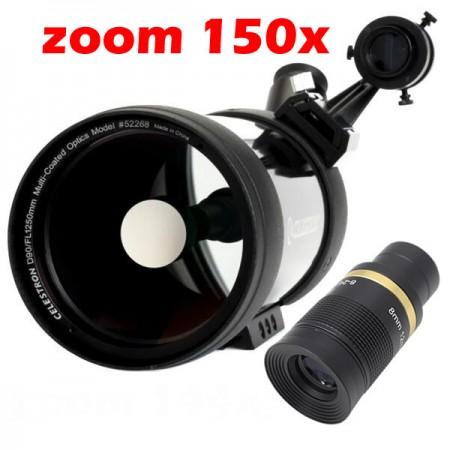 Luneta - Telescopio - Celestron C90 BAK4 + 2 Ocular + Mochila