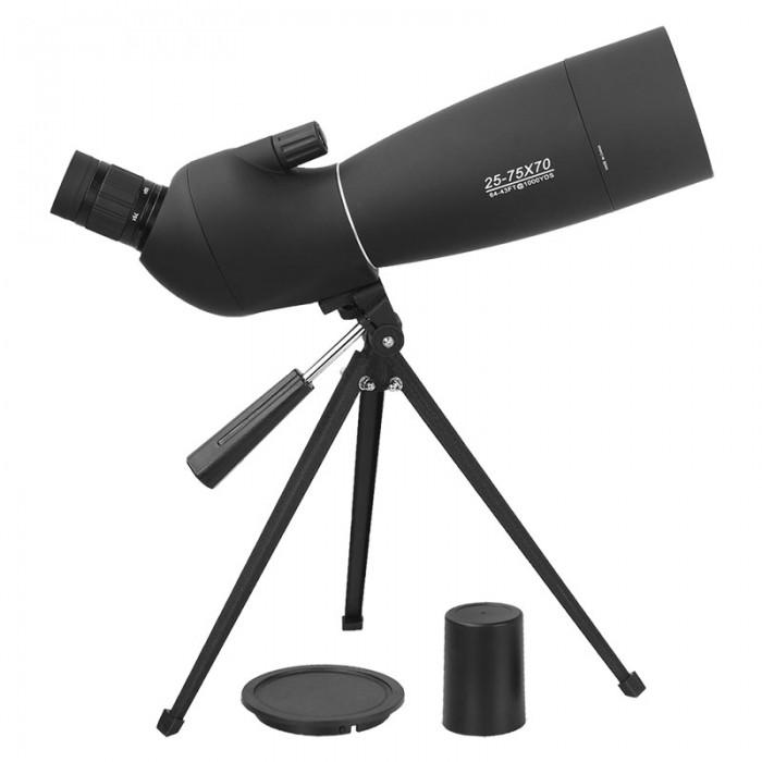 Luneta - Telescopio - Target 25-75x70 com Tripé BAK4 FMC  Com Adaptador De Celular