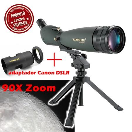 Luneta - Telescopio - VisionKing 30-90x90 BaK-4 + Adaptador Canon DSLR (EF)