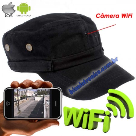 Boné Espião Wifi - IP Câmera Escondida 1280x720