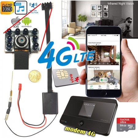 Kit Modulo Câmera IP INFRA com Modem 4G - Chip 4G