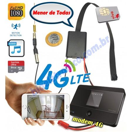 Kit Modulo Câmera IP com Modem 4G - Chip 4G
