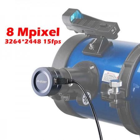 "Ocular Eletrônico USB Professional 8 Mpixel - Câmera Digital para Astrofotografia 1,25"""